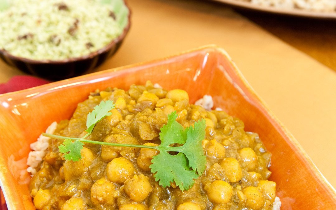 Curry-in-a-Hurry w/ Coconut Ginger Chutney