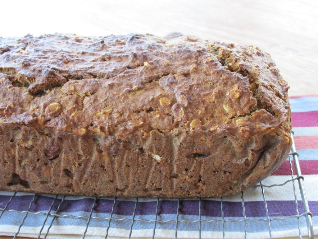 Banana Nut Loaf {gluten-free, oil-free, vegan}