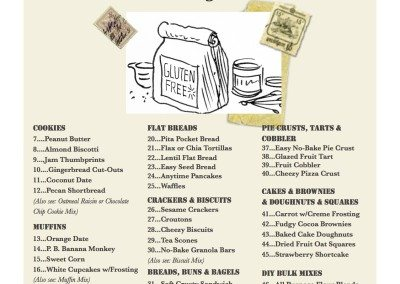 RECIPES - Table of Contents Photos