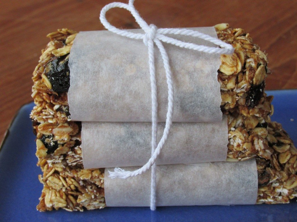 No-Bake Granola Bars stacked photo