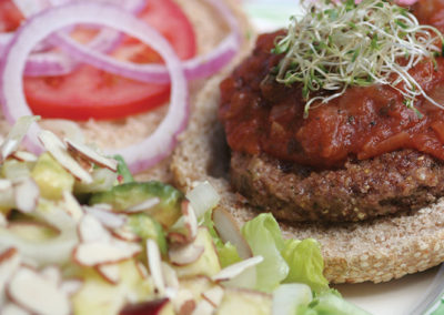 Oatrageous Bean Burger